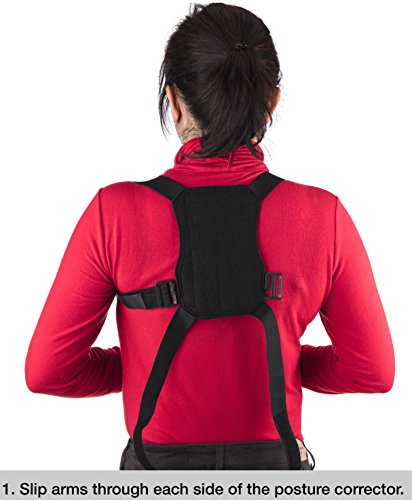 Back Brace High Quality Posture Corrector Lumbar 3 Straps Support Belt Adjustable Pain Relief for Women Men Lower Waist Therapy Pain Computer Sitting Work Prevents Slouching Hunchback (X Large)