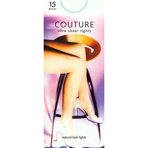 """Couture Womens/Ladies Nylon 15 Denier Tights (1 Pair) (One Size (5ft1""""-5ft9"""")) (Forest Green) by Couture"""