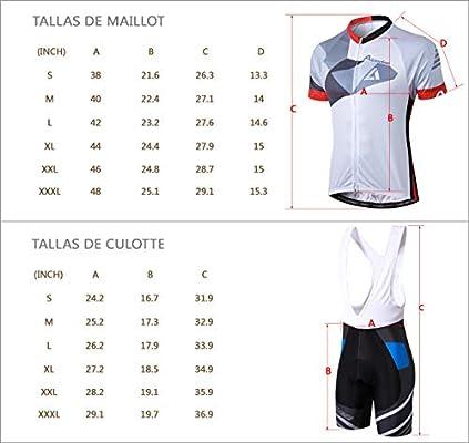 Alpediaa Maillot Ciclismo Hombres BIC Negro Maillots de Bicicleta ...