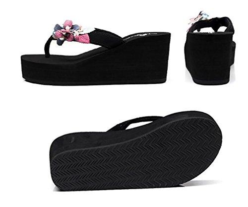 Sandales sandales plates talons plate nbsp; sauvages mode de outdoor coréenne sandales à sandales de version hauts Sandales A pour tongs femmes pantoufles compensées chaussons mode pantoufles forme et q14wR0xn