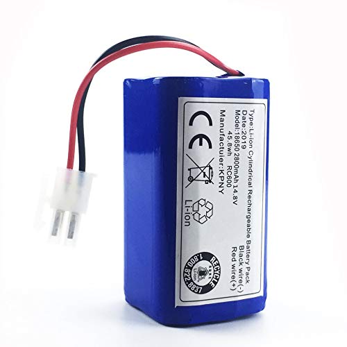 Flytoasky 14.8 V 2800 Mah Robot Vacuum Cleaner Replacement Battery Pack for Chuwi Ilife V7 V7s Pro Robotic Sweeper by Flytoasky