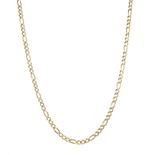 Luxurman 10K 8.5'' Yellow Solid Gold 6mm Diamond Cut Figaro Chain Link Bracelet with Lobster Clasp by Luxurman (Image #2)