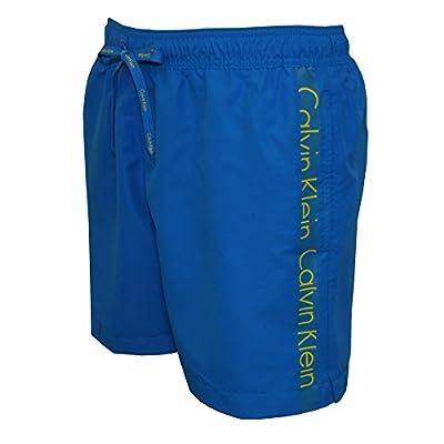 Calvin Klein Logo Tape Men's Swim Shorts, Electric Blue
