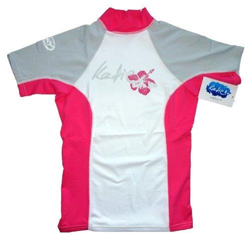 Katie Rashguard Spandex UV-Shirt Damen kurzarm UPF 50+ Sonnenschutz (pink, M)