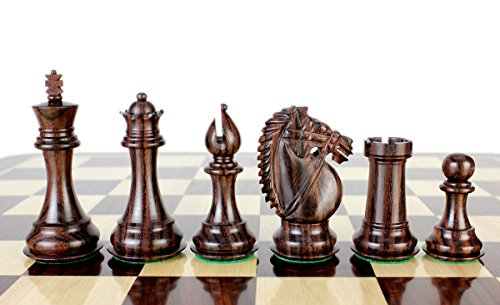 House of Chess - Rosewood/Boxwood Chess Pieces Rio Staunton 4.0