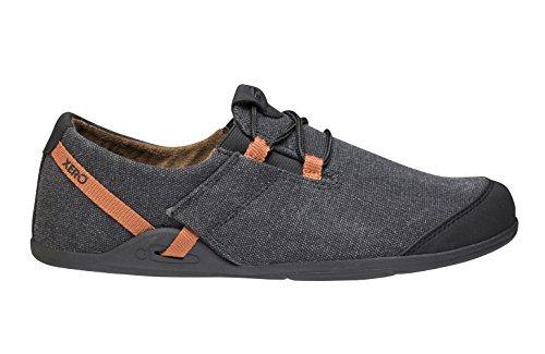 e215c42d0ce0e Xero Shoes Hana Casual Canvas Slip On Shoe - Minimalist Zero Drop Sole -  Men's,Black/Rust,7 D(M) US