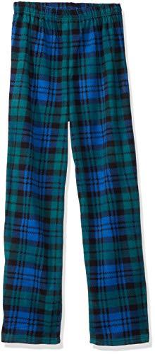 Komar Kids Boys' Big Black Watch Plaid Pajama Pant, Green, - Pajama Black Watch