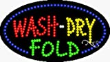 15x27x1 inches Wash Dry Fold Animated Flashing LED Window Sign