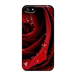 Customized Diy For Iphone 6 Case Cover PC Transparent CaRed Rose Cover
