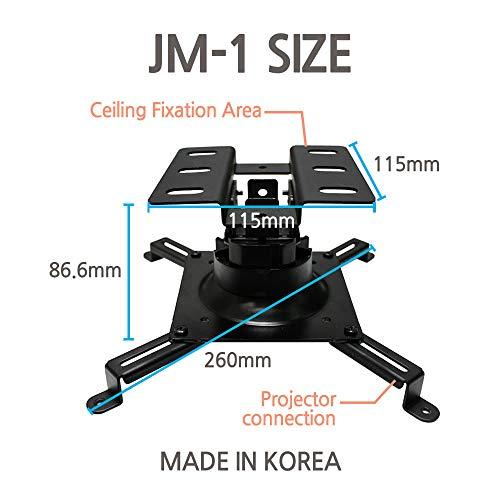 SeaMechanics JM-1B Projectors Mount Drop Ceiling Black Bracket - Fits All Projectors, 360 Degress Rotatable swivels/tilts for General projectors