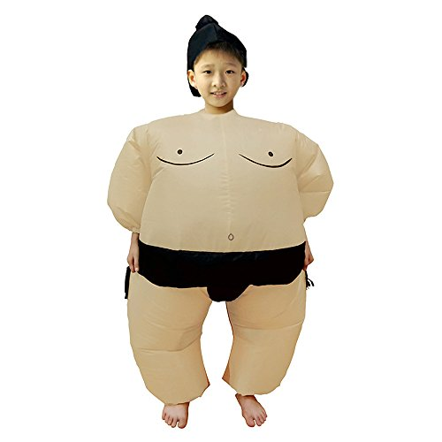 BIGPETS Inflatable Sumo Wrestling Fat Suit Blow up Fancy Dress Funny Costume Halloween (Sumo for (Funny Fancy Dress Halloween Costumes)