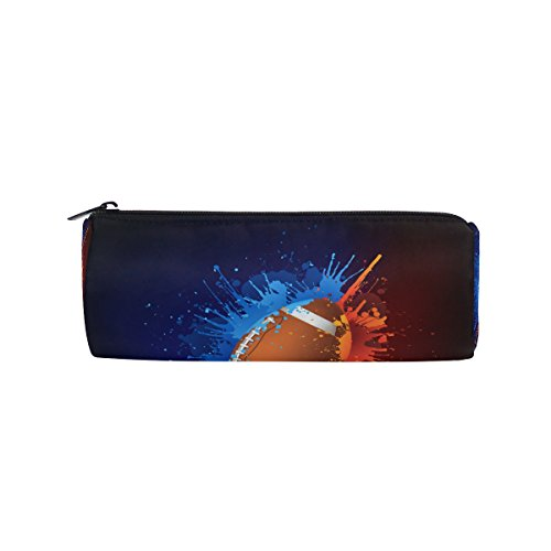 U LIFE Vintage Sports American Football Soccer Fire Flames Pen Pencil Holder Case Bag Pouch Purse Cosmetic Makeup Bags by ALAZA