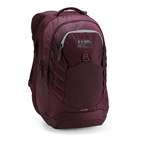 Under Armour Men's Hudson Backpack, Dark Maroon (600)/Overcast Gray, One Size