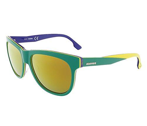 Diesel DL0112/S 95G Green/Yellow&Blue Wayfarer sunglasses