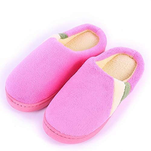 Cotton Slippers Cotton for and Indoor Home Warm Men Slippers Couples Cotton Tow Pink Shoes Floor Women Slippers DEED Wooden P1xpvv