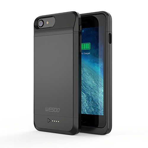 iPhone 6 / 6s Battery Case, Wesoo 3050mAh Protective Portable Charger Charging Case for 4.7 inch iPhone 6 / 6s (Apple MFi Certified) [Black]