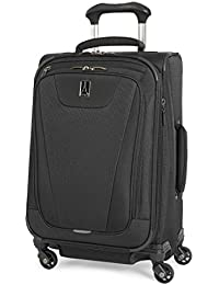 Maxlite 4 Expandable 21 Inch Spinner Suitcase, Black
