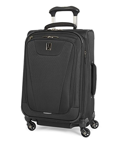 (Travelpro Maxlite 4 Expandable 21 Inch Spinner Suitcase, Black)