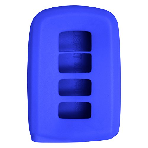 Keyless2Go New Silicone Cover Protective Case for Smart Prox Keys with FCC HYQ14FBA - Blue