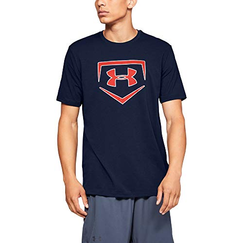 Under Armour Men's IL Graphic Short sleeve Plate Icon, Academy (408)/Radio Red, X-Large