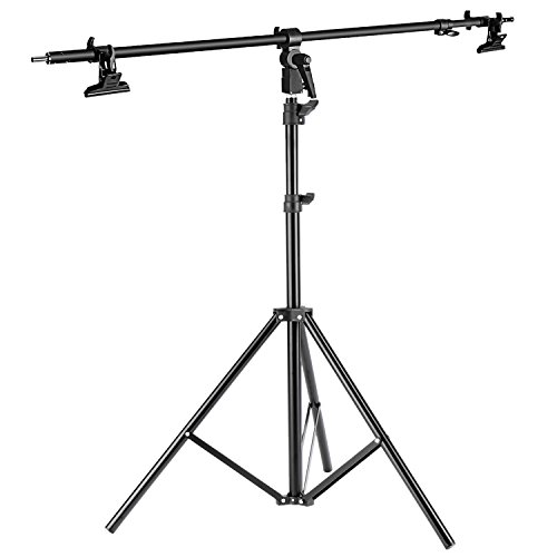 Neewer Photo Studio Alluminum Alloy Light Stand 29.1-74.8 inches/74-190 centimeters Foldable and Reflector Holder Arm 39.7 inches/101 centimeters Retractable Telescopic Crossbar with 2 Pieces Clamps by Neewer