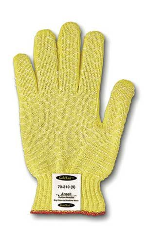 Ansell 70-215-8 Size 8 GoldKnit Medium Weight Kevlar String Knit Cut Resistant Gloves (Knit Medium Weight Kevlar String)