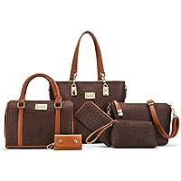 Women Shoulder Handbag for Work Purse 6 Piece Set Bag