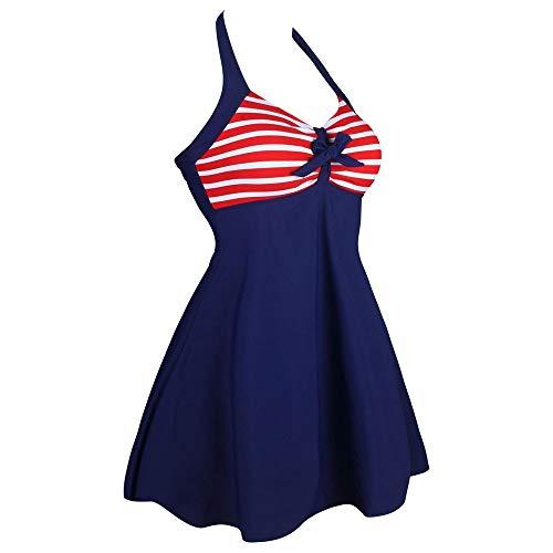 Five Size Blue Dimensione White Costume Stars pointed colore One Swimdress Con Red Piece Da And Bikini Pipa Plus Bagno Vintage Stripes Sailor Wagsiyi Intero Xl RqZppx