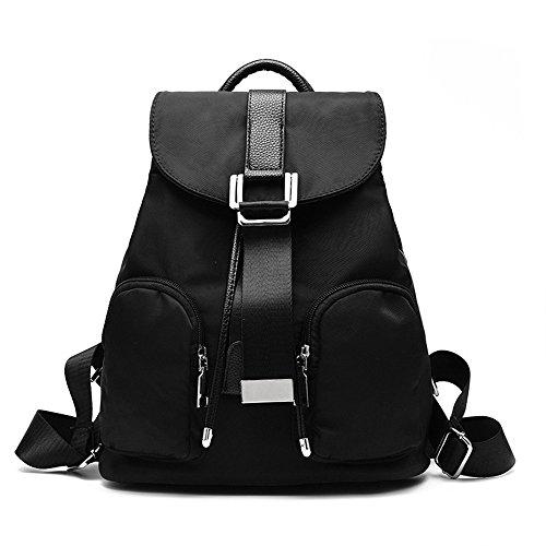 Mujer Wewod Oxford Colegio 34 H Escuela Bandolera Moda Sport Tela l Viaje Bolsas Casual Escolares Cm De 28 Backpack Daypack Mochila Bolsos 15 Mochilas X Para W Bolso Bag Negro 5rqgxt75