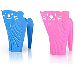 Plastic Cat Litter Scoop with Handle Pet Dog Cat Kitten Sand Waste Shovel Cleaning Tool,Pack of Two