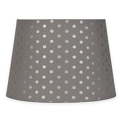 polka dot lamp shade grey