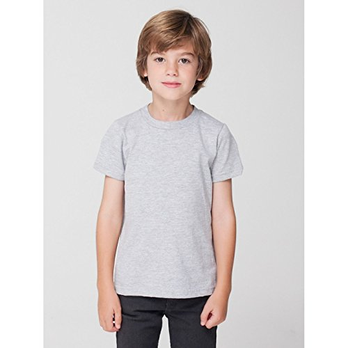 american-apparel-childrens-kids-plain-short-sleeve-t-shirt-4-years-heather-grey