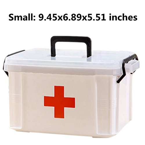 Family Medicine Cabinets, Petforu Household Medical Box EMPTY First Aid Kit Plastic Storage Pill Cases - WHITE S (Medical Chart Cabinet)