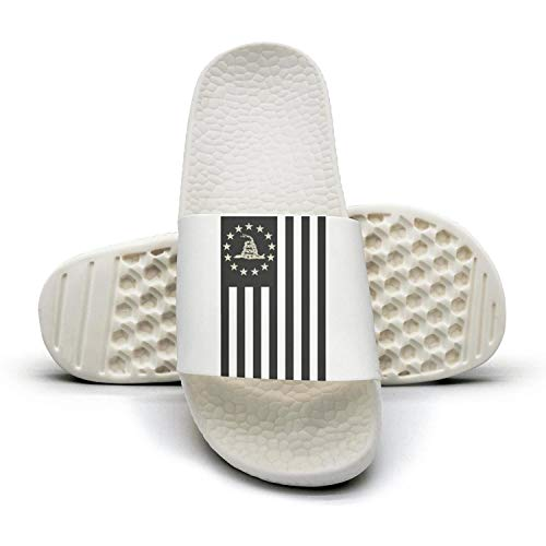 ZHUSSS Betsy Ross Flag DTOM Mens Slide Sandals Non-Slip Stylish House Slide-On Shower Sandals Men