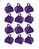 School Cowbells - Set Of 12 Metal Cowbell Noisemakers (Select A Color) (Purple)