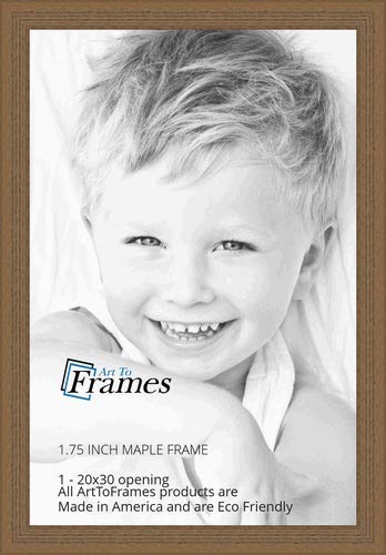 (ArtToFrames 20x30 inch Maple Grain Distressed Frame Wood Picture Frame, WOM82223-104-20x30)