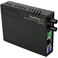 StarTech.com 10/100 Fiber to Ethernet Media Converter Multi Mode ST 2 km (MCM110ST2)