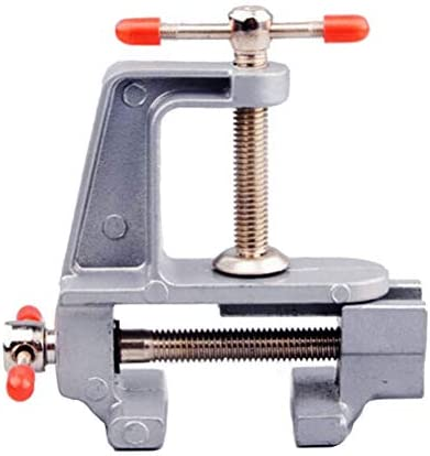 Iycorish 2ピース 3.5インチ アルミミニチュア 小さなジュエリー 趣味クランプ テーブルベンチ 万力ミニツール
