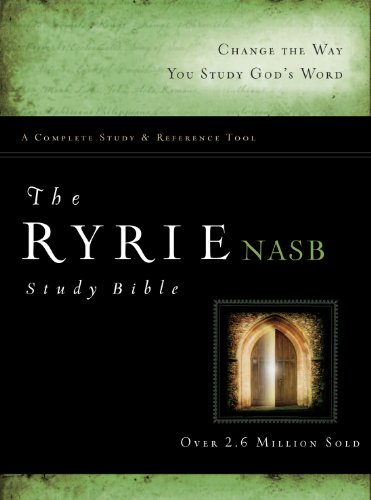 The Ryrie NAS Study Bible Hardcover Red Letter