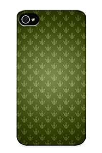 Hard Plastic Iphone 4/4s Case Back Cover, Hot Fabric Pattern Case For Christmas's Perfect Gift