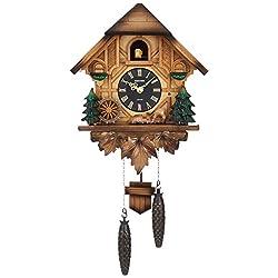 Rhythm Clock Cuckoo Wall Clock kakko-texinba- [Made in Japan] music box Play Wood Brown Rhythm 4mj423sr06