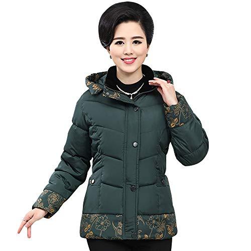Abrigo Chaquetas Verde Espesar Outwear Corto Calentar Mujer Bozevon Larga Acolchado Retro Manga Chaqueta Invierno S1qE0E