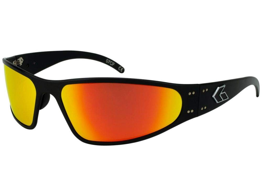 Gatorz Wraptor Aluminum Frame Sunglasses-Black/Sunburst Mirror Polarized Lens by Gatorz