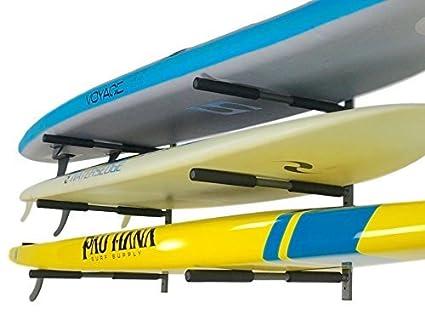 Paddle Board Rack >> Amazon Com Storeyourboard Sup Rack 3 Paddleboard Wall Storage