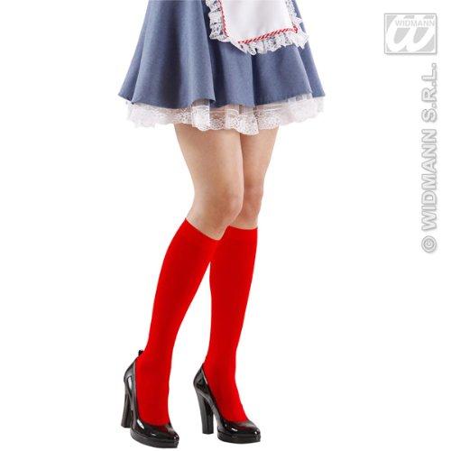Rote Kniestrümpfe für Damen - Einheitsgröße