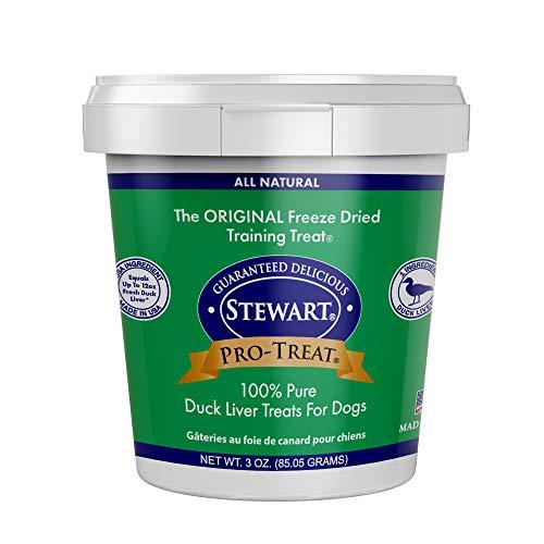 Stewart Pro-Treat Duck Liver Freeze Dried Dog Treats, 3-Ounce