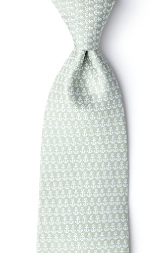 Small Anchors Olive Microfiber (Wild Ties Olive)