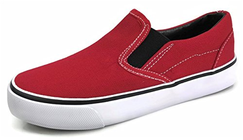 Kid's Classic Slip On Canvas Sneaker Tennis Shoes,2926 Red, 3 US Little Kid (Ons Slip Childrens)