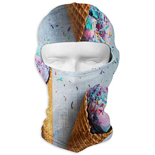 Balaclava Unicorn Ice-Cream Cones Recipe Full Face Masks Ski Sports Cap Motorcycle Hood for Cycling Sports Hiking