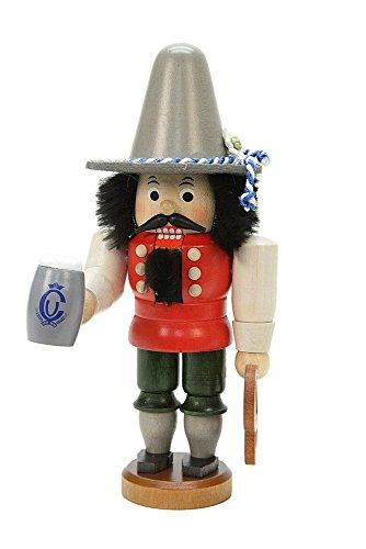 (German Christmas Nutcracker Bavarian glazed - 17,5cm / 7 inch - Christian Ulbricht)